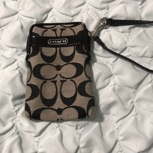 Coach wrist wallet and small phone holder